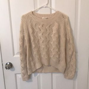 Urban outfitters cream sweater m